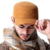 Buy cheap 2017 New Retro Men's Visor Hat Woolen Warm Golf Flat Cap Military Hats from wholesalers
