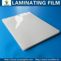 Buy cheap Business Card 57 95mm 2-1/4'' 3-3/43mil 5mil 7mil 10mil Glossy Laminating Pouch Film from wholesalers