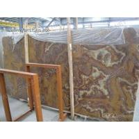 Buy cheap TIGER marble/tiger onyx/red onyx/red marble Blocks and Slabs from wholesalers