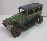 Buy cheap Prewar Antique Japanese Vintage Green Passenger Car Clockwork Old Litho Tin Toy from wholesalers