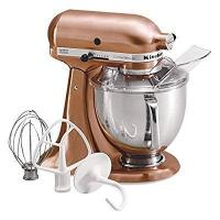 Buy cheap KitchenAid Metallic Series Satin Copper 5 Quart Tilt Head Stand Mixer with Stainless Steel Bowl from wholesalers