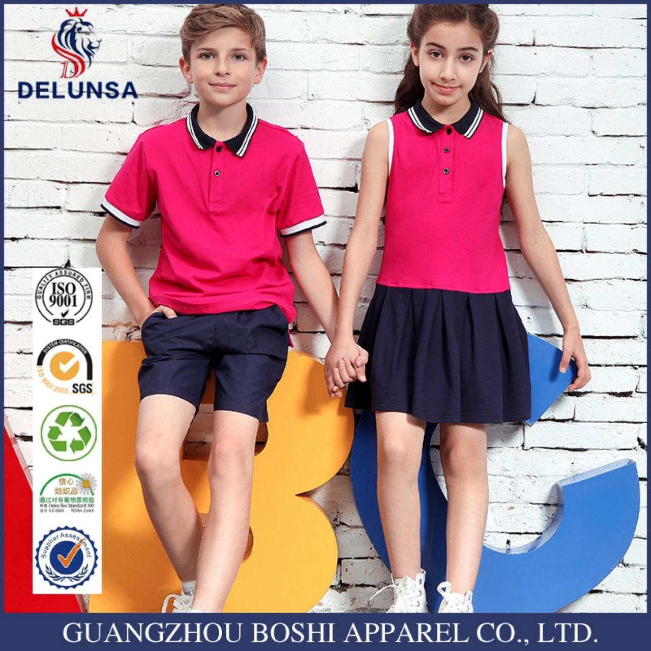 New Design Cotton Polo Shirt For Students Wear