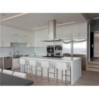Buy cheap European style high gloss kitchen cabinet with with quartz/corian worktop from wholesalers