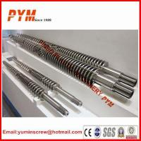 Buy cheap Bimetallic 38CrMoAlA Nitrided Screw Barrel for Plastic Extruder Machine from wholesalers