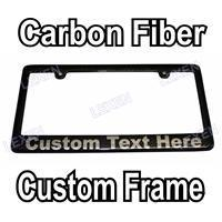 Buy cheap Custom Printed Carbon Fiber License Plate Frame With YOUR TEXT from wholesalers