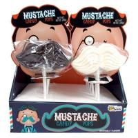 Buy cheap Bulk Mustache Candy Pops 12 Count Display from wholesalers