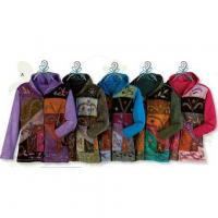 Buy cheap EMBROIDERED FULL-ZIP HOODIE SWEATSHIRT WOMEN'S PATCHWORK FOLK ART DESIGN from wholesalers