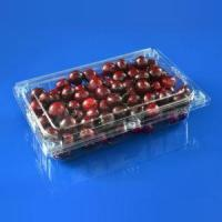 Buy cheap Food Grade Disposable Clear Clamshell Plastic Fruit Packing Box for 1500g Cherry Packaging from wholesalers