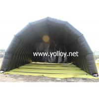 Buy cheap Inflatable Dome Tent Black Inflatable Private Plane Hangar Tunnel Tent from wholesalers
