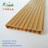 Buy cheap Wave shape wood grain fence PVC plastic profile from wholesalers
