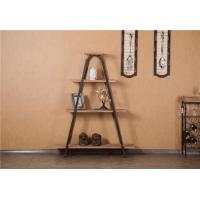 Buy cheap Wrought iron shelf receive real wood frame multilayer shelf W106 from wholesalers