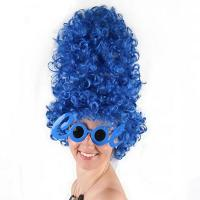 Buy cheap Holiday wig Blue tube with short hair and curly hair wig from wholesalers
