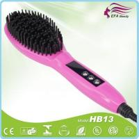Buy cheap Zero scald personalized ionic hair straightener comb with clear LED display-HB13B from wholesalers