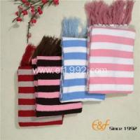 Buy cheap Girl Strip Tassels Long Knitted Scarf from wholesalers