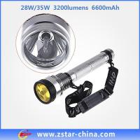 Buy cheap Flashlight Torch 6600mAh HID flashlight torch from wholesalers