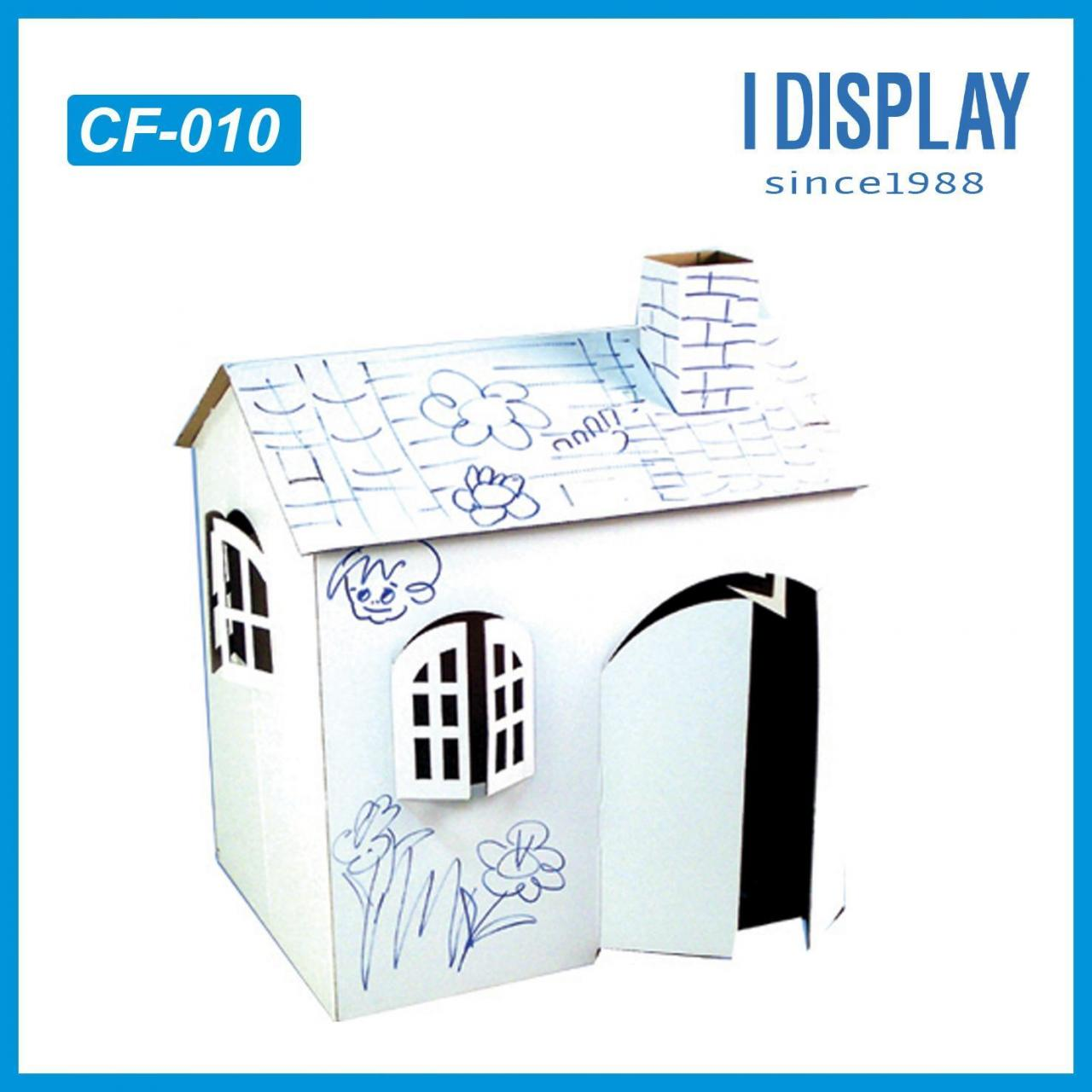 Buy cheap Small cardboard furnitures house for your lovely pet draw by yourself from wholesalers