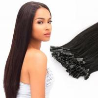 Buy cheap V Tip Fusion Human Hair Extension Straight Peruvian Pre-bonded Remy Hair from wholesalers