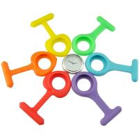 China Silicone Nurses Brooch Fob Watch with 6 Different Colors (3 Round-Shape+3 Heart-Shape) on sale