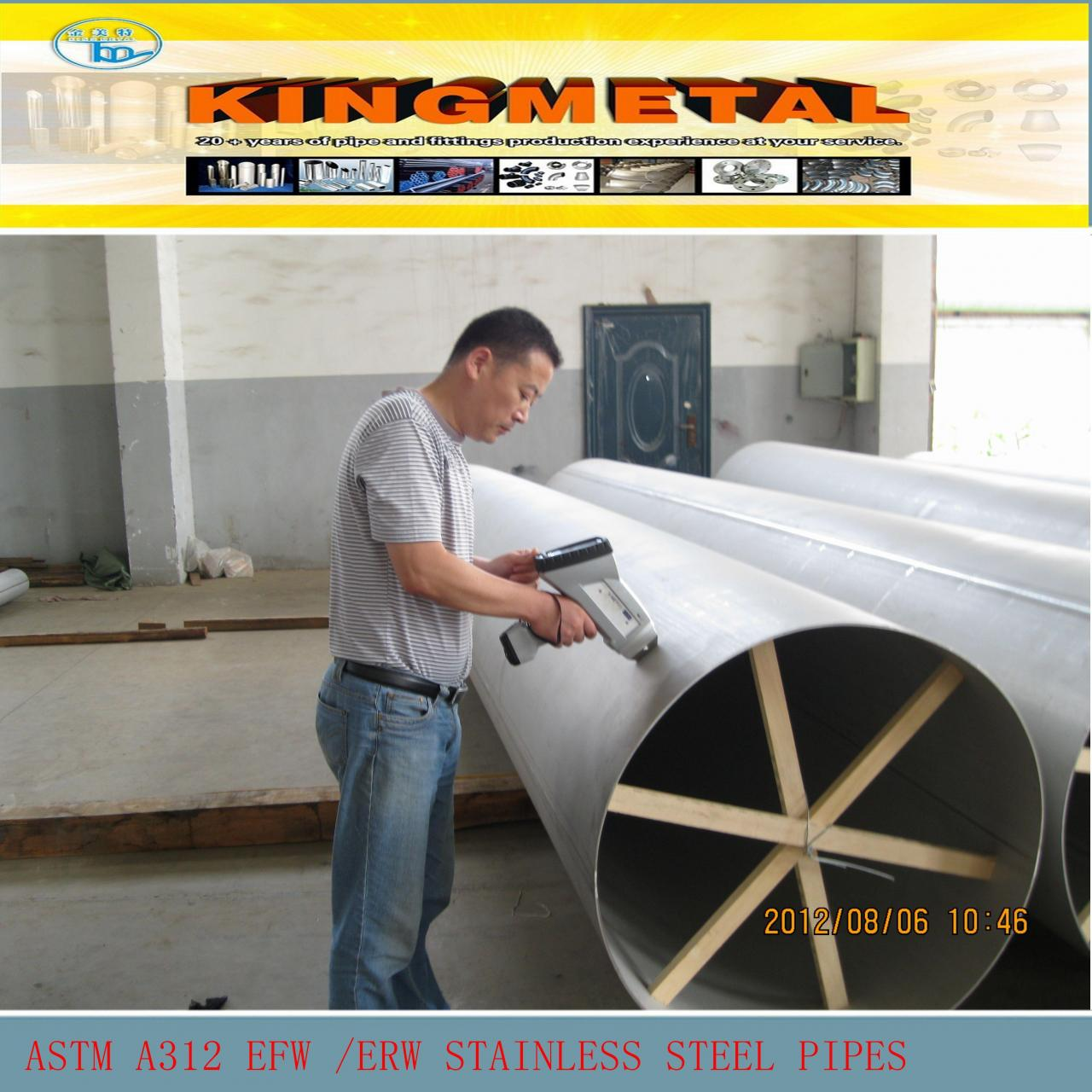 Buy cheap ASTM A312 EFW/ERW welded stainless steel pipes product
