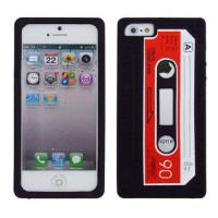 Buy cheap Black/Red Silicone Cassette Tape Case / Skin / Cover for Apple iPhone 5 5G 5S from wholesalers