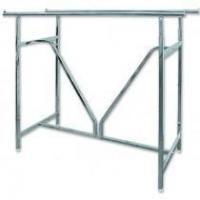 Buy cheap Custom Double Rail Garment Hanger Stand Portable Clothes Display Racks For Store Fixture from wholesalers