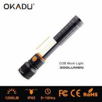 Buy cheap OKADU 18650 Rechargeable COB LED 10W Working Light CREE XM-L T6 LED Magnet Flashlight from wholesalers