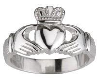Buy cheap Solvar Sterling Silver Medium Claddagh Ring from wholesalers
