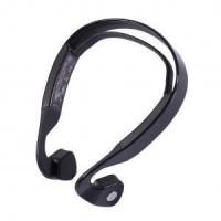 Buy cheap KUMEED Wireless Bone Conduction Headphones Bluetooth 4.0 Headset Stereo Music Mic Ear Releas Black from wholesalers