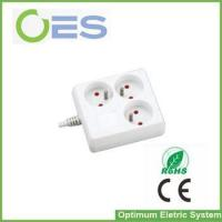 Buy cheap 3-outlet Euro Electrical Extension Cord Socket/French Power Socket from wholesalers