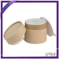 Buy cheap Custom kraft brown paperboard tube boxes printing from wholesalers