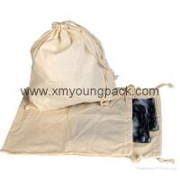 Buy cheap Promotional custom large 100% natural cotton canvas laundry bag from wholesalers