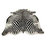 Buy cheap Living Room Zebra Printed Cow Skin Rug from wholesalers