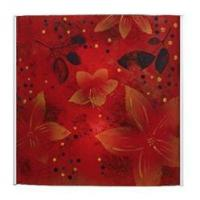 Buy cheap Living Room Red and Yellow Glass Wall Art from wholesalers