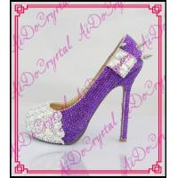 Buy cheap Aidocrystal latest leather high heel shoes woman muticolor pump shoes from wholesalers