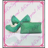 Buy cheap Aidocrystal ladies green round-toe shoes and matching clutch bag for sexy ladies from wholesalers