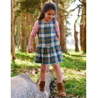 Buy cheap Polyester Plaid Vest Pocket Girls Dresses from wholesalers