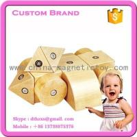 Buy cheap 20PCS kids wooden magnetic blocks toys building tiles construction brain development toy manufacture from wholesalers