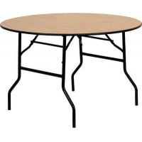 Buy cheap New Design Strong Plywood Round Foldable Hotel Ballroom Dining Folding Table from wholesalers
