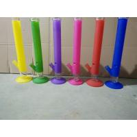 Buy cheap colored glass bong glass water pipes 18inch Cylindrical from wholesalers