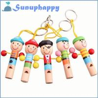 Buy cheap Factory supplier custom pirate shape wooden whistle for children from wholesalers
