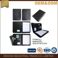 Buy cheap A4 Folder Business PU Leather Portfolio Custom Document With USB Holder from wholesalers