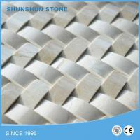 Buy cheap Imported Crema Marfil Marble 3D Cambered Mosaic Tile from wholesalers