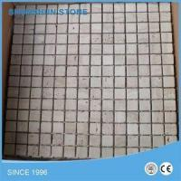 Buy cheap Light/Beige/White Travertine Tumbled Marble Mosaic Tile from wholesalers