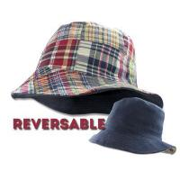Buy cheap Bucket Hats Stetson Bucket Hat Navy/Madras Plaid Reversable Linen Boonie Fishing Size M L XL from wholesalers