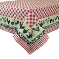 Buy cheap Just Us Check-Ins Cotton Tablecloth by Design Imports from wholesalers