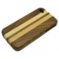 Buy cheap Natural Wood Hand-Carved Case Wooden Cover for iPhone 4 4S from wholesalers
