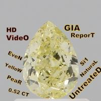 Buy cheap GIA CERTIFIED 0.52 Cts Natural Loose Diamond Pear Fancy Yellow Color Si1 L3596 from wholesalers