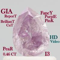 Buy cheap GIA CERTIFIED 0.46 Ct Fancy Intense Purple Pink Pear Cut Loose Diamonds L3680 from wholesalers