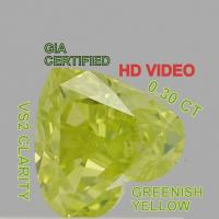 Buy cheap GIA CERTIFIED 0.30 Cts Natural Loose Diamonds Greenish Yellow Color VS2 L3635 from wholesalers