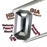 Buy cheap GIA CERTIFIED 1.55 Cts Natural Loose Diamond Brilliant Fancy Black Color L5309 from wholesalers